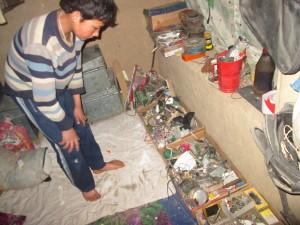 Hussaindad in his working room