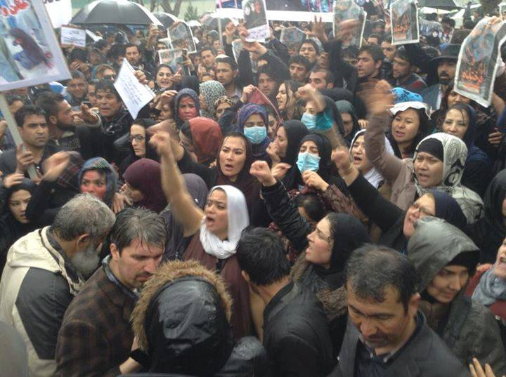 Protestor gathered in Kabul on Tuesday to demand justice for Farkhunda