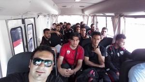Afghan players soccer go to Kirgizstan