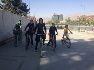 Afghan girls on bicycles defy social norms