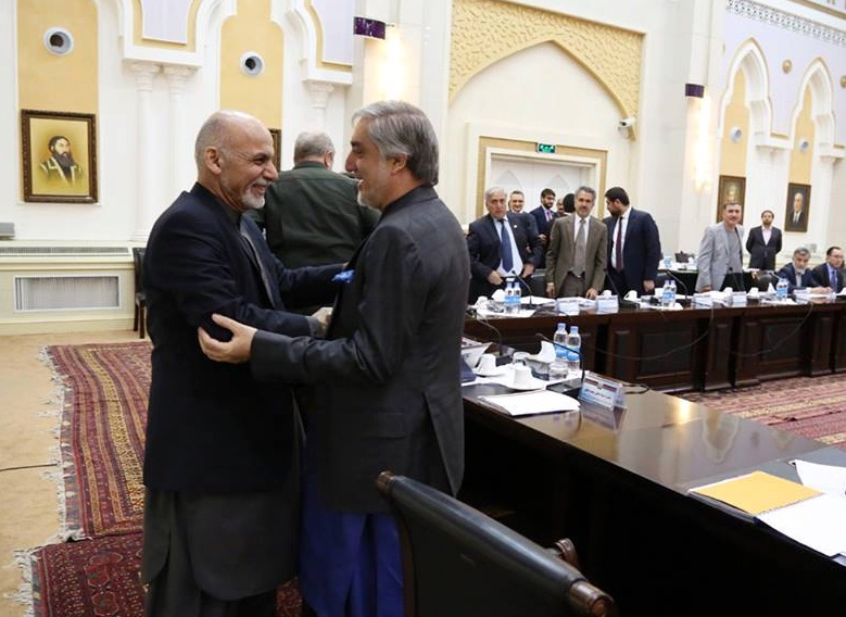 Let us for this one year, forget the criticisms and help the government (Picture source: Ashraf Ghani Facebook page)