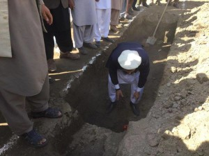 The foundation to the new hospital was laid on June 24, 2015