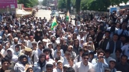 Thousands in Khost protest rerouting TUTAP power lines
